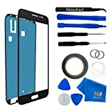 MMOBIEL Kit de remplacement vitre frontale pour Samsung Galaxy J3 (2016) J320F (Noir) écran tactile inclus: Kit d'outillage spécifique / Pincette / autocollant pré-découpé / Chiffon / fil métallique