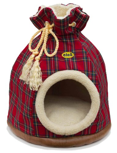 large-cleo-cat-duffle-bag-cat-bed-red-tartan-fabric-580mm-height-x-460mm-diameter-with-unique-remova