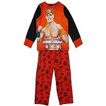 World Wrestling Entertainment - Conjunto de pijama oficial de la WWE de John Cena para niño, camiseta y pantalón