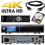 GigaBlue UHD Quad 4K 2X FBC DVB-S2 Tuner 1x Dual DVB-S2X Tuner Ultra HD E2 Linux Receiver inkl. 500 GB Festplatte