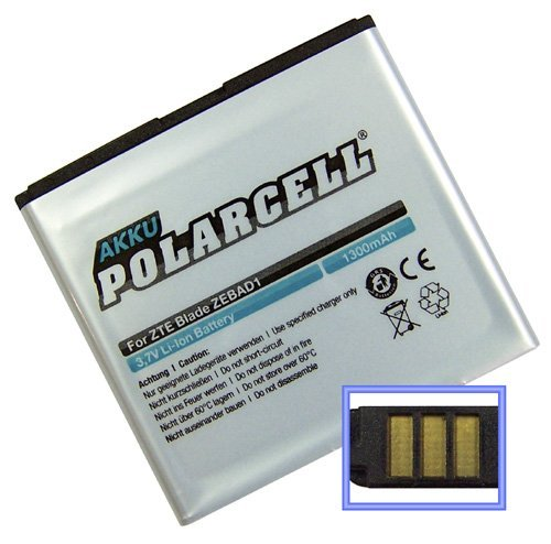PolarCell Akku für ZTE Blade / Orange San Franciso / Base Lutea (Li-Ion - 1300mAh)