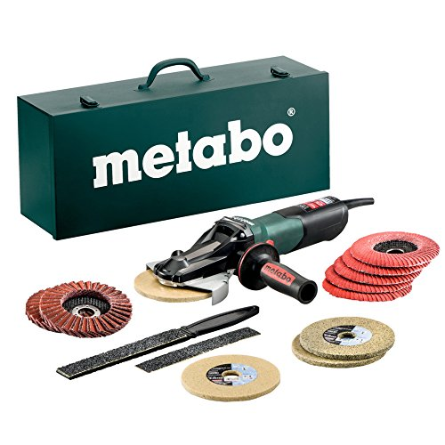 Metabo WEVF 10-125 Quick Inox Flachkopf-WS TV00, 613080500 (Flachkopf-schleifer Metabo)