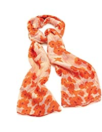 Central Chic Womens Large Poppy Scarf Sarong Wrap
