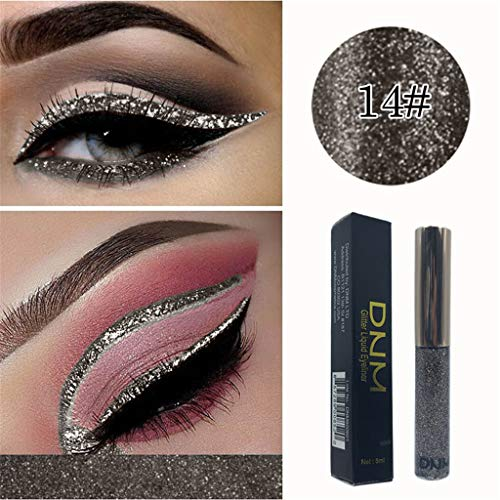 Langlebig Glänzend Glitter Shimmer Flüssiger Lidschatten Stift Eyeliner Wasserfest Metallic Pigmente Make-up Cosmetic By Vovotrade