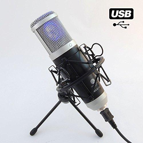 MCU-02 Hi-End USB Studio Kondensatormikrofon Großmembran / Windows Android MAC / Rap Gesang Podcast Instrumente / Kondensator Mikrofon Mikrofonspinne Nierencharakteristik 20-20000Hz Recording Tools