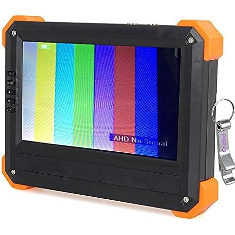 OneBird X41A 7 pulgadas TFT LCD Monitor de 1080P HD-AHD HDMI VGA CVBS cámara de vídeo CCTV Tester Comprobador con un abridor de botellas