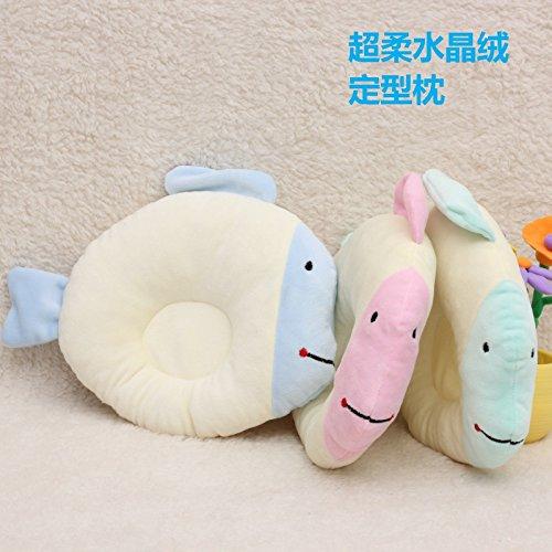 Preisvergleich Produktbild Baby Kopfstütze,Soft Memory Foam Babykissen Spezialität Design für Baby,verhindern, flachen Kopf Syndrom, ultra-soft _31*25cm Farbe kleine Fischmehl