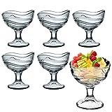 Bormioli Rocco Acapulco helado de postre Copas de cóctel para aperitivos–Juego de 6