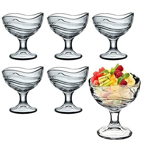 Bormioli Rocco Acapulco Ice Cream Sundae Dessert Appetizer Cocktail Glasses - Set of 6