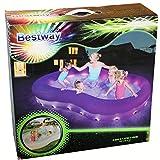 Bestway 54135 Planschbecken Pool Color Wave 280x157x46cm mit Beleuchtung Farbwechsel Wasser