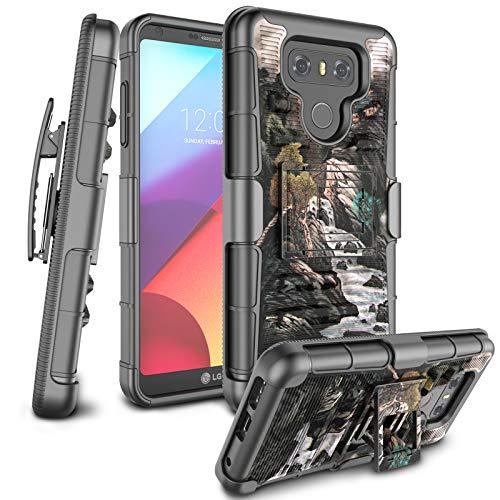 Zectoo LG G6 Hülle, LG G6 Clips, [Heavy Duty] Ganzkörper-Rüstung mit Gürtelclip, Ständer, stoßfest, Hybrid-Schutzhülle für LG G6 / LG G6 / H871 / H782 / US997 / VS988, Landscape - Handys Att Unlocked