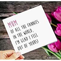 Mum, of all the fannies in the world, I'm glad I fell out of yours!- Funny, Rude & Offensive Mother's Day Card