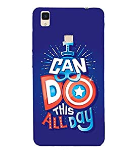 PrintVisa Designer Back Case Cover for Vivo V3Max (Stunning Blue Picture Quote)
