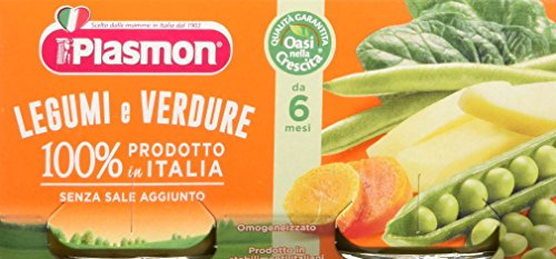 Plasmon Omogeneizzato di Verdure Verdure e Legumi 24 Vasetti da 80 gr