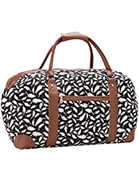 Canvas Travel Holdalls - 30 COLOURS - Weekend Overnight Bags - Medium Size  Holiday Duffle Bag - Ideal Womens Ladies Gym Holdall… df38bf2d8c9a2