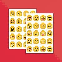 Building Block Head Emojis x 40 // Teacher Stickers