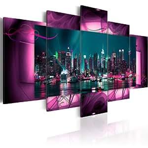 bilder 200x100 cm xxl format fertig aufgespannt top vlies leinwand 5 teilig. Black Bedroom Furniture Sets. Home Design Ideas