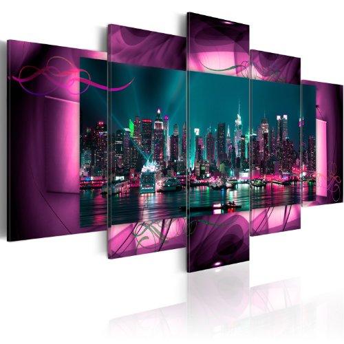 Bilder 200x100 cm - XXL Format - Fertig Aufgespannt - TOP - Vlies Leinwand - 5 Teilig - Wand Bild - Kunstdruck - Wandbild - Kunst Abstrakt 051477 200x100 cm B&D XXL -