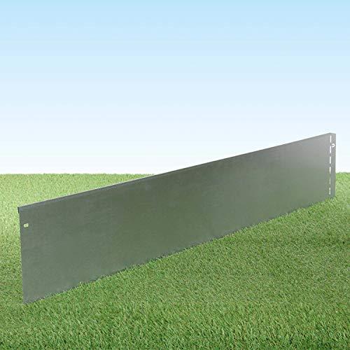 GartenAZ Rasenkante aus Metall - 7164 - Stahlblech feuerverzinkt, silberfarbig - 103, x 20 cm, Nutzlänge 25 m