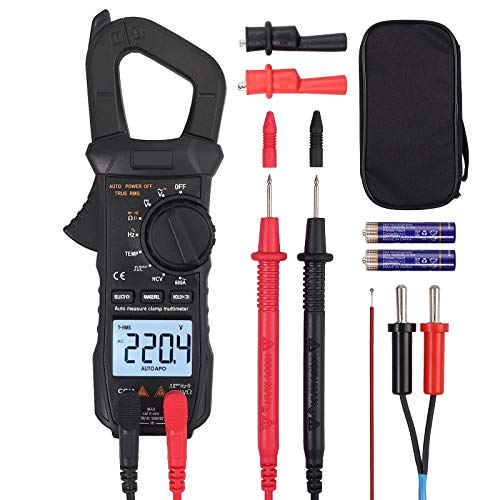 Digitales Zangenmessgerät TRMS 600A Wechselstrom AC/DC Spannung 6000 Counts NCV Durchgangskapazität Widerstand Frequenz Diode Hz Test quadratische Welle
