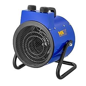 MSW Generador De Aire Caliente Eléctrico MSW-TTEH-2000 (2.000 W, Rango de temperatura 0–85 °C, Flujo de aire 185 m³/h)