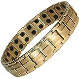 MPS® Vergoldet Titan magnetische Armband mit Klappschließe + FREI Geschenkbeutel + FREI Werkzeug -, um Links zu entfernen