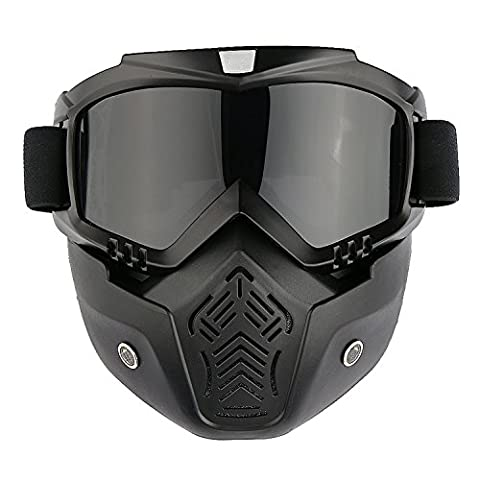 Motorcycle Goggles Skiing Ski Snow SnowBoard Glasses Face Mask Eyewear Detachable CE CERTIFICATE