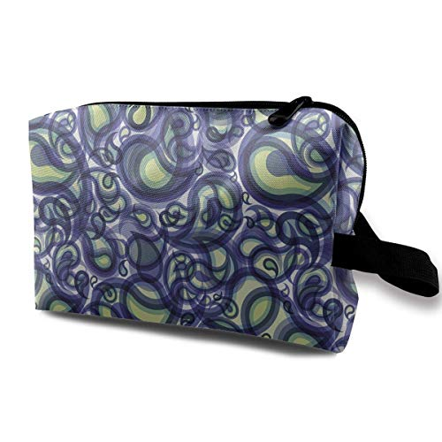 Travel Hanging Cosmetic Bags Paisley Raindrops Multi-Functional Toiletry Makeup Organizer