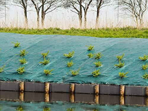 Nature Toile de paillage Paysage Verte en polypropylène tissé 90gr/m² 5,15x100m