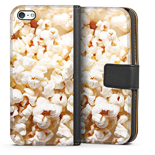 DeinDesign Tasche kompatibel mit Apple iPhone 5c Leder Flip Case Ledertasche Kino Popcorn Poppin Corn - 5c Iphone Case-kino