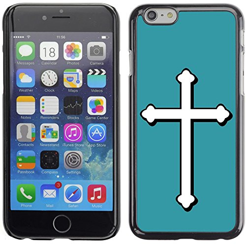 Graphic4You Kreuzr Design Harte Hülle Case Tasche Schutzhülle für Apple iPhone 6 Plus / 6S Plus (Aqua Blau) Türkis
