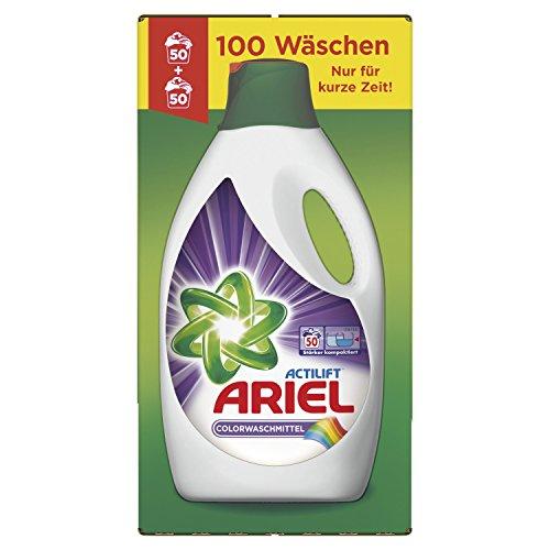 Ariel Colorwaschmittel Flüssig, 2 x 2,75 L, 1er Pack (2 x 50 Waschladungen)
