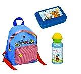 Spiegelburg Rucksack Die Lieben Sieben 3tlg. Set mit Brotdose und Alu-Trinkflasche z.B. für den Kindergarten C7281
