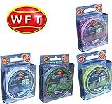 WFT Gliss KG Monotex Line 150m, geflochtene Schnur, Meeresschnur, Angelschnur, Geflechtschnur, Farbe:Transparent, Durchmesser/Tragkraft:0.10mm/4kg Tragkraft