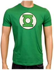 Coole-Fun-T-Shirts T-Shirt Grüne Laterne - Green Lantern - Big Bang Theory - Logo - T-shirt - Mixte