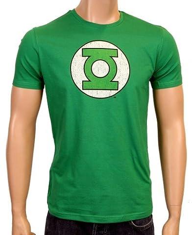 Coole-Fun-T-Shirts T-Shirt Grüne Laterne - Green Lantern - Big Bang Theory - Logo, green logo, XXL, FT215