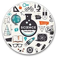 Awesome Vinyl Stickers (Set of 2) 7.5cm - Science Biology Chemistry Physics Student Fun Decals for Laptops,Tablets,Luggage,Scrap Booking,Fridges,Cool Gift #24161