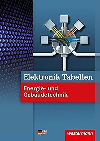 Elektronik Tabellen: Energie- und Gebäudetechnik: