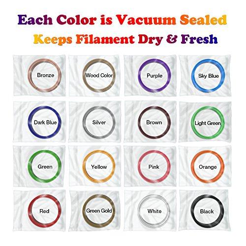 dikale 3D Stift Farben PLA - 16 Farben 12.2 M, 3D Stift Nachfüller 1,75mm für 3D Stift, 3D Drucker, Kompatibel mit ODRVM, Canbor, Uvistare, Sunlu, PLUSINNO, QPAU, Lovebay, Juboury, Nexgadget 3D Pen - 5