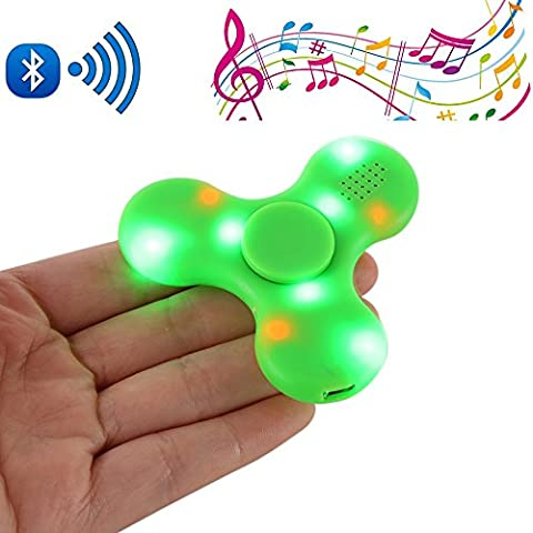 Crysle Fidget Tri-Spinner Stress Relief Jouet pour Adultes Enfant,Tri-Spinner Fidget Hand Toy with Wireless Bluetooth speaker and LED Light