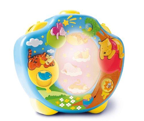 """Nachtlicht Kinderzimmer """"Winnie Puuh Traumshow"""" mehrfarbig - Einschlafhilfe für Babys mit Musik - vereint Babyspieluhr und Schlummerlicht - ab 0 Monate"""