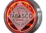 Neonuhr Tabasco Wanduhr Deko-Uhr Leuchtuhr USA 50's Style Retro Uhr