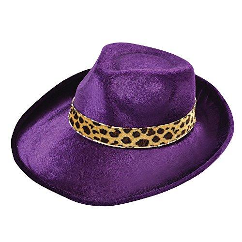 8Fedora Samt Violett Hat, One Size ()