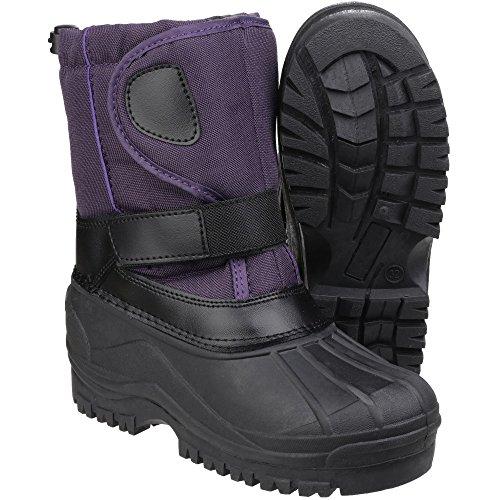 Cotswold Boys & Girls Avalanche Anti Slip Children's Snow Boots Purple