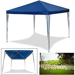 HG® 3x 3m pérgolas boda Carpa Tienda para playa camping jardín resistente al agua Pavillion, azul