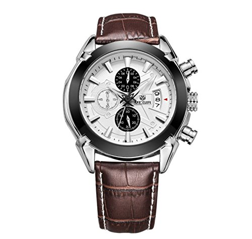 Addic Chronograph White Dial Men\'s Watch - Megirmw2