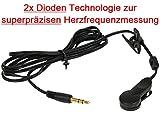OHRCLIP mit 2x Dioden Technologie zur superpräzisen Herzfrequenzmessung für KETTLER, Cardio Puls Ohrclip für Pulsmessung an KETTLER Geräten / Herzfrequenzmessung Cardio ear clip Puls / Pulsmesser