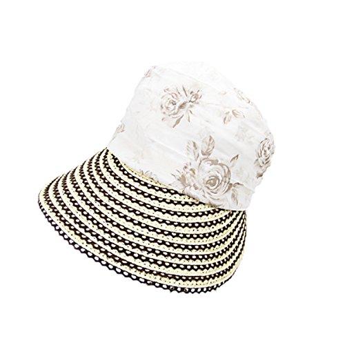Femmes Large Brim Caps été élégance Simple Respirant Plage Chapeaux De Soleil Beige