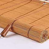 Seitenzug- & Springrollos Bambusvorhang Karbonisierte Farbrollos Bambus, Rollo Rolling Rolling Mit Valance Und Griff, 23 Verfügbare Größen, Unterstützende Anpassung (größe : 60x200cm)