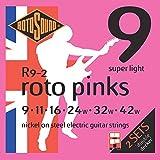 Rotosound Jeu de cordes en nickel Super light pour guitare électrique double manche (9 11 16 24 32 42)